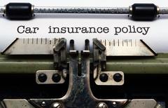 Car insurance policy Stock Photos