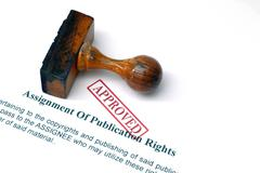 assignment of publication rights - stock photo