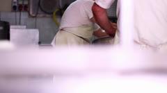 MAKING MOZZARELLA CHEESE 23 MAN'S WORKING 3 Stock Footage