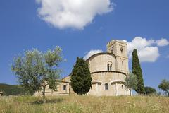 Italy, Tuscany, St. Antimo's Abbey Stock Photos