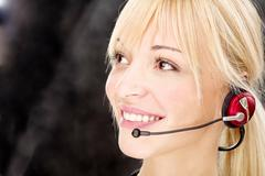 friendly telephone operator - stock photo