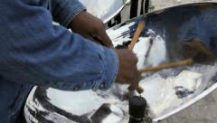 Steel Drum Player Stock Footage