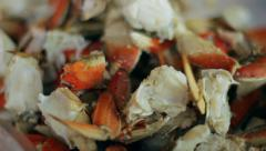 Crab Legs Close Up Stock Footage
