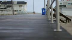 Wet Boardwalk Dolly - stock footage