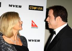 Stock Photo of olivia newton john and john travolta.g'day usa 2010 black tie gala.hollywood