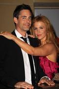 poppy montgomery and her husband, adam kaufman.g'day usa 2010 black tie gala. - stock photo