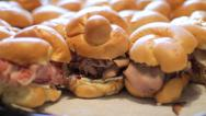 Stock Video Footage of Mini Deli Sandwiches