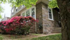 Stone House Dolly Stock Footage