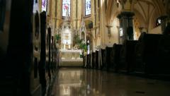 Old Church Interior - stock footage