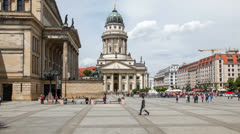 Gendarmenmarkt, Berlin, Germany Stock Footage