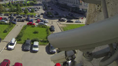 Time lapse view from surveillance camera, top view - stock footage