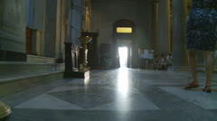 Inside Santa Maria church in Trastevere, Rome 9 (slomo dolly) Stock Footage