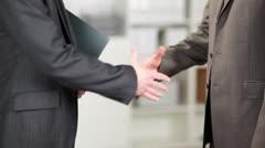 Business handshake - stock footage