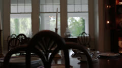 Dining Room Table Stock Footage