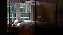 Smooth Shot Of King Size Bed Stock Footage
