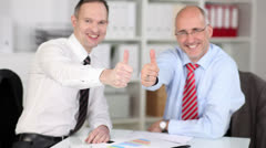 Two motivated businessmen Stock Footage