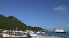 St Martin Island 1 Stock Footage