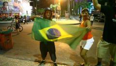 Brazil beats Spain 3:0 Stock Footage