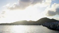St Martin Island Sunset Stock Footage
