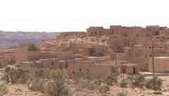 LIBYA - abandoned berber village - outside scenic Stock Footage