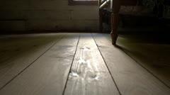 Sunlight On Wooden Floor Stock Footage