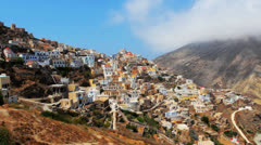 Timelapse of traditional Mountain Village Olympus, Karpathos, Greece Stock Footage