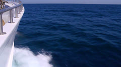 Stock Video Footage of Waves from stem of sailing ship