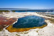 Stock Photo of USA, Yellowstone Park, West Thumb Geyser Basin, Abyss Pool