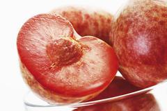 Plum and apricot hybrid, close up - stock photo