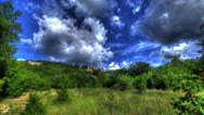 Stock Video Footage of HDR Time Lapse. Mangoup Beauty In The Clouds