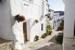 Spain, Andalusia, Frigiliana, alleyway Stock Photos