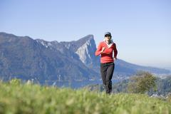 Stock Photo of Woman jogging, outdoor, Austria