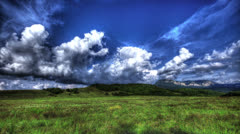 4k. HDR Time Lapse. Crimean Nature Landscape With Clouds - stock footage