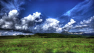 Stock Video Footage of 4k. HDR Time Lapse. Crimean Nature Landscape With Clouds