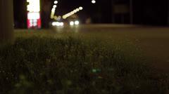 Night road Stock Footage
