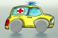Stock Illustration of Illustration, Red cross symbol on an ambulance