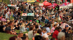 Festival Crowd in Field HD Stock Footage