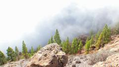 Timelapse of fog passing by in the mountains near roque nublo, Gran Canaria Stock Footage