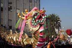 Chinese dragon in new year parade Stock Photos