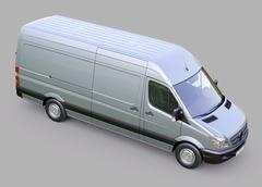 commercial van - stock photo