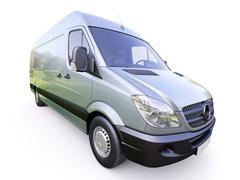 commercial van - stock photo
