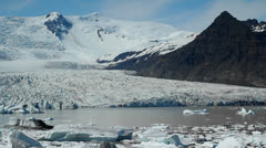 A glacier lagoon in the interior of Iceland. Stock Footage