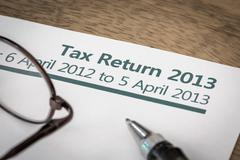 Uk tax return 2013 Stock Photos