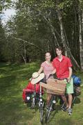 Austria, Salzburger Land, Couple on bike tour - stock photo