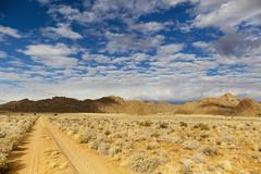 Africa, Namibia, Namib Desert, Track in Gondwana through through Namib Naukluft - stock photo