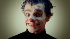 Crazy Clown Man Stock Footage