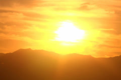 Desert Mountain Sunset Timelapse NTSC - stock footage