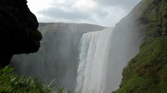 A beautiful waterfall in Iceland. Stock Footage