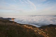 Stock Photo of Austria, Steiermark, Reiteralm, Hikers in mountains