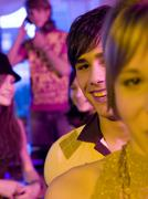 Stock Photo of young people having party